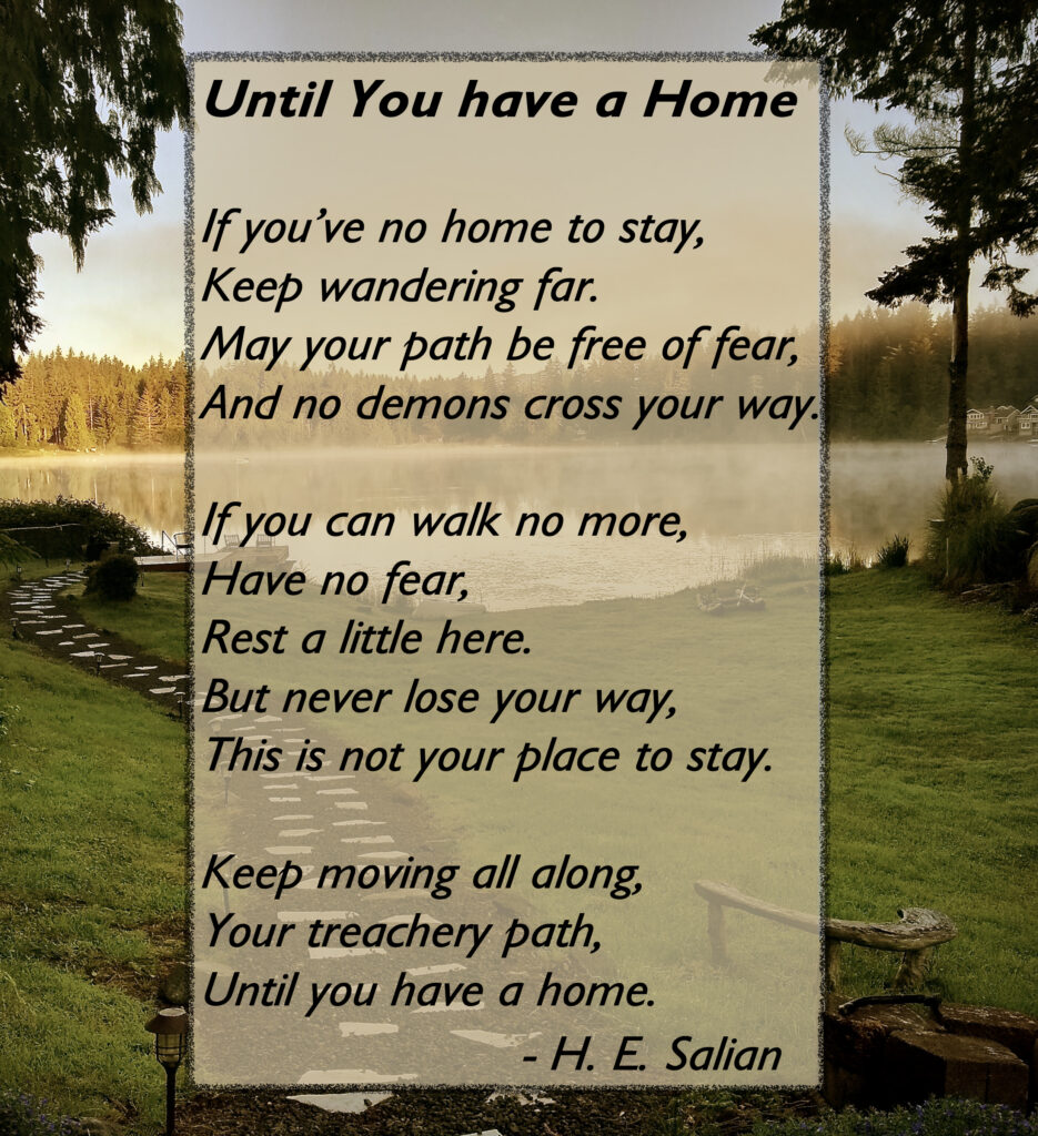 Poem: Until you have a home